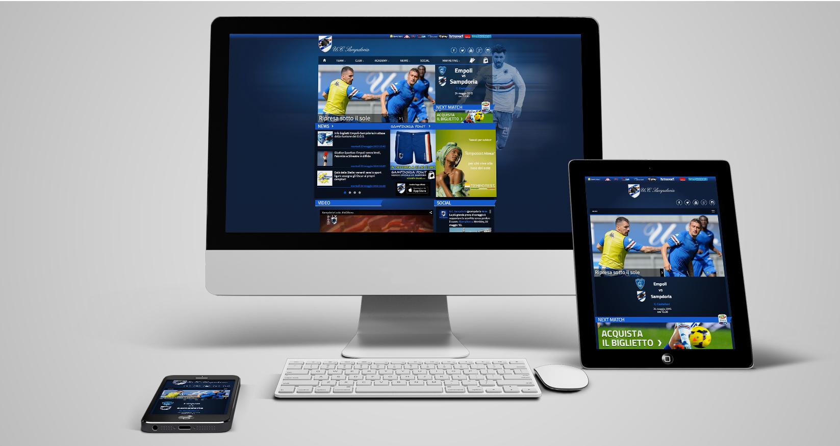 Sampdoria sito ufficiale - cover