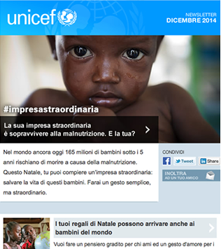 Unicef Newsletter template 2015 - Screenshot 2