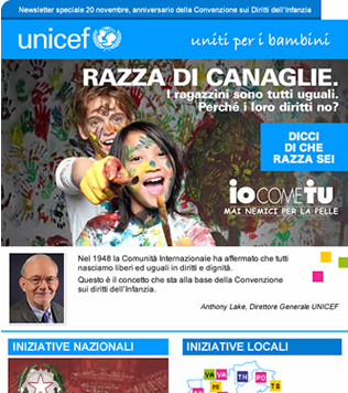 Unicef Newsletter template 2015 - Screenshot 1