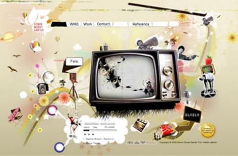 Un esempio di sito realizzato con flash