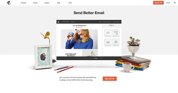 Il sito MailChimp.com