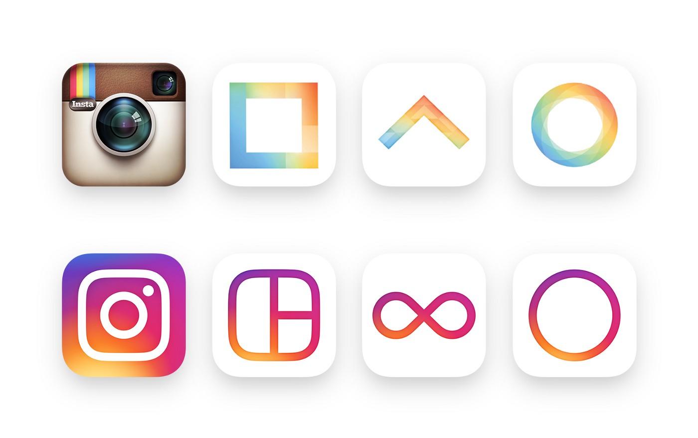Icone Instagram: vecchio e nuovo
