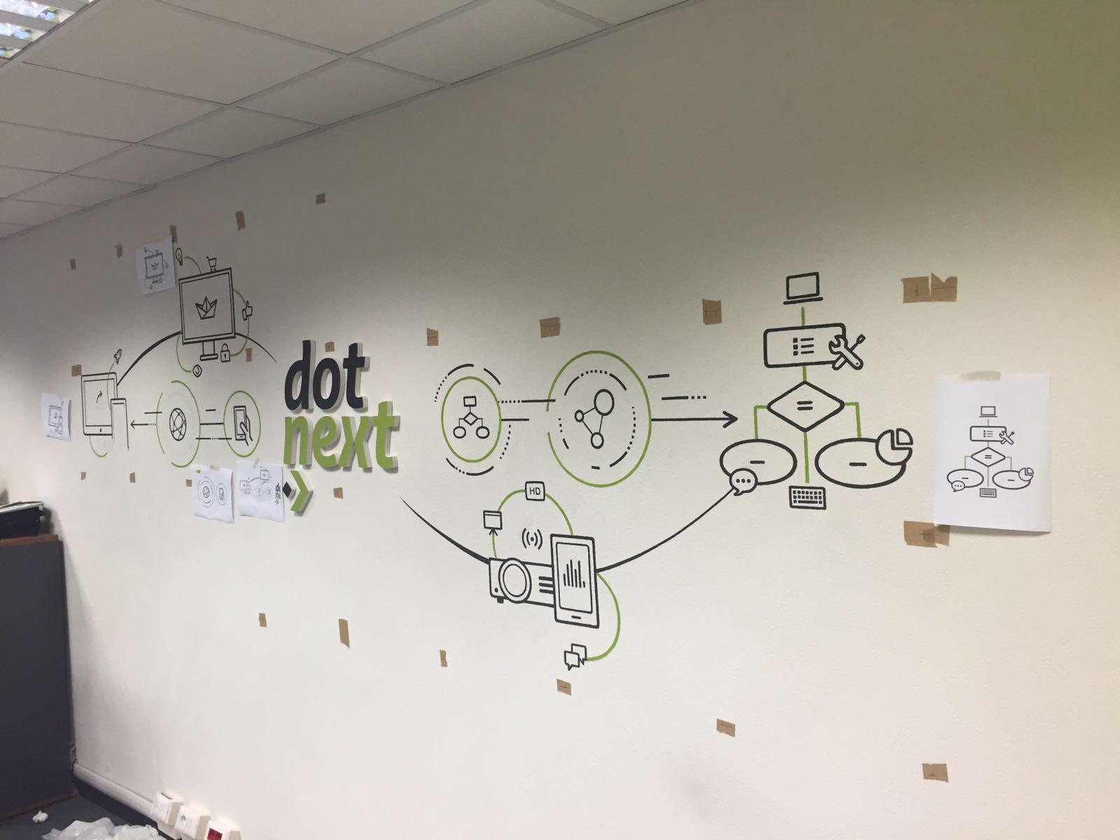 Il murales di Dot next